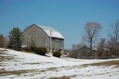 De Gebouwen van het landbouwbedrijf Stock Afbeelding
