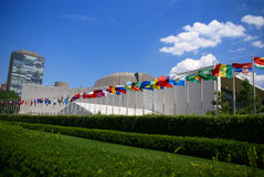 De gebouwen van het Secretariaat en van de Assemblage van de Verenigde Naties Royalty-vrije Stock Afbeelding