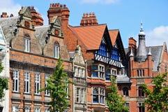 De gebouwen van het stadscentrum, Nottingham royalty-vrije stock afbeelding