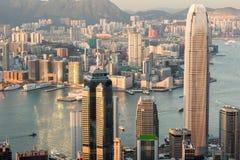 De gebouwen van Hongkong Stock Afbeelding