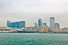 De gebouwen van kust Stock Afbeeldingen