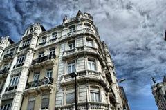 De gebouwen van La Coruna Stock Foto