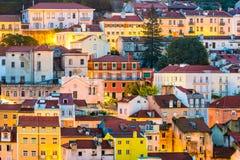 De gebouwen van Lissabon Portugal stock afbeelding