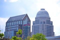 De Gebouwen van Louisville, Kentucky Royalty-vrije Stock Foto