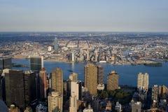 De gebouwen van Manhattan stock foto's