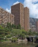 De gebouwen van Monaco - Monte Carlo- Royalty-vrije Stock Afbeelding