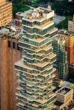 De gebouwen van New York in het centrum van de stad royalty-vrije stock foto's