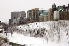 De Gebouwen van Ottawa Stock Afbeeldingen