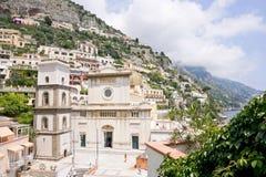 De gebouwen van Positano Stock Afbeelding