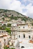 De gebouwen van Positano Stock Fotografie