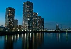 De gebouwen van Shinonome in Tokyo Royalty-vrije Stock Afbeeldingen