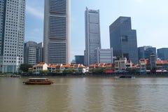 De gebouwen van Singapore Stock Foto
