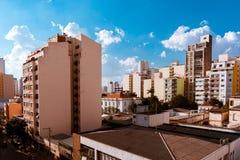 De gebouwen van de stad van são Paulo Stock Foto