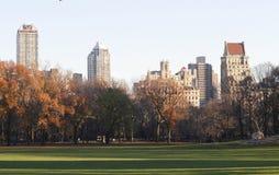 De gebouwen van de de stadsarchitectuur van New York, wijd royalty-vrije stock fotografie