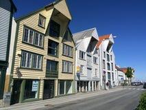 De Gebouwen van Stavanger Stock Foto's