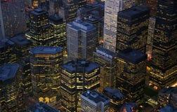 De Gebouwen van Toronto stock afbeeldingen