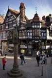 De gebouwen van Tudor - Chester - Engeland Stock Fotografie