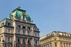 De gebouwenarchitectuur van Wenen Stock Afbeeldingen