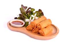 De gebraden Chinese Traditionele Lente rolt voedsel stock afbeeldingen