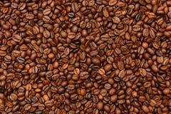 De gebraden donkere achtergrond van Koffiebonen Royalty-vrije Stock Afbeelding