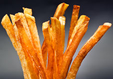 De gebraden gerechten van de aardappel Royalty-vrije Stock Afbeeldingen