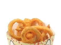 De gebraden gerechten van Twister in de doos Royalty-vrije Stock Fotografie
