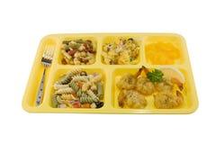 De gebraden maaltijd van de garnalencafetaria Royalty-vrije Stock Afbeelding