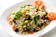 De gebraden rijst mengde groente Stock Foto