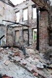 De gebrande bouw Royalty-vrije Stock Fotografie