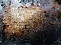 De gebrande creatieve tekst van het boektijdschrift Royalty-vrije Stock Foto