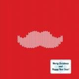 De gebreide achtergrond van het Kerstmispatroon met snor Royalty-vrije Stock Afbeelding
