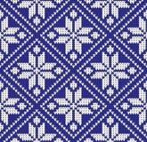 De gebreide kleur regelt naadloze patroon vectorillustratie royalty-vrije illustratie