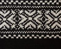 De gebreide stof van Jersey met de winterpatroon Stock Fotografie