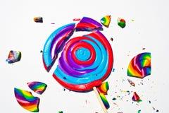 De gebroken Harde Close-up van het Suikergoed Stock Afbeeldingen