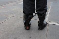 De gebroken laarzen Stock Fotografie