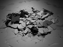 De gebroken schade barstte donkere zilveren grondoppervlakte stock illustratie