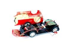 De gebroken stuk speelgoed auto Royalty-vrije Stock Afbeeldingen