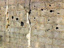 De gebroken textuur van de omheiningsmuur Stock Fotografie