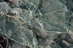 De gebroken Textuur van het Glas Stock Afbeeldingen
