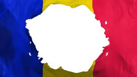 De gebroken vlag van Andorra vector illustratie