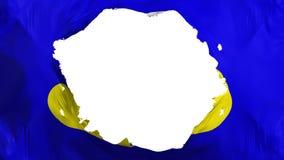 De gebroken vlag van Brussel vector illustratie