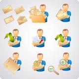De gebruikers van de post Stock Afbeeldingen