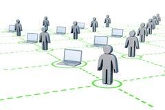 De gebruikers van Internet vector illustratie