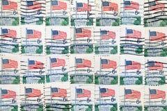 De gebruikte postzegels van de V.S. Stock Foto's