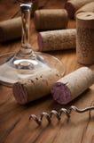 De gebruikte wijn kurkt Royalty-vrije Stock Fotografie