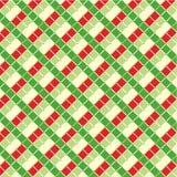 De gecontroleerde achtergrond van Kerstmis Stock Afbeeldingen