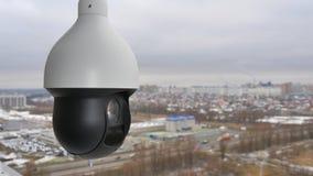 De gecontroleerde camera van de snelheidskoepel PTZ in in openlucht Stock Fotografie