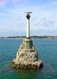 De gedaalde schepen van het monument, Sebastopol, de Oekraïne royalty-vrije stock fotografie