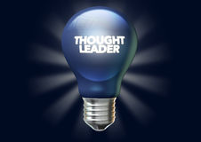 De gedachte Banner van Leiderslight bulb and royalty-vrije stock fotografie
