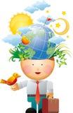 De gedachte van het milieu Stock Afbeeldingen